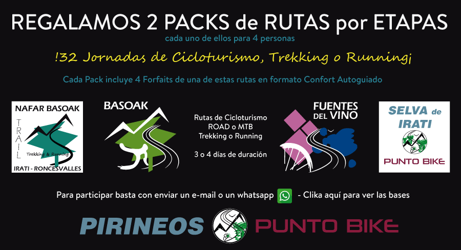 cartel regalo Packs Basoak y Fuentes del Vino